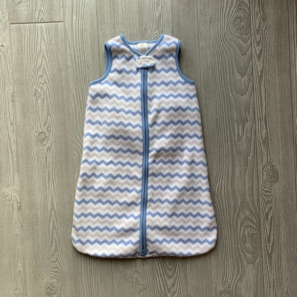 Just Born Other - NWOT Just Born Blue MicroFleece Wear-a-Blanket